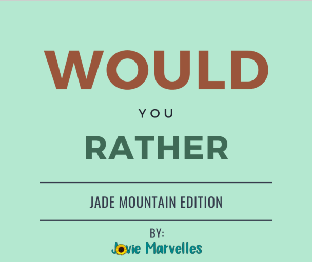 WOULD YOU RATHER | 002